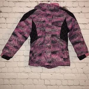 Free Country winter coat  hooded multicolored 5/6